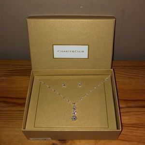 Necklace & Solitaire Earring Set
